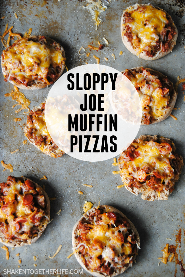 Sloppy Joe Muffin Pizzas are an easy week night meal idea!