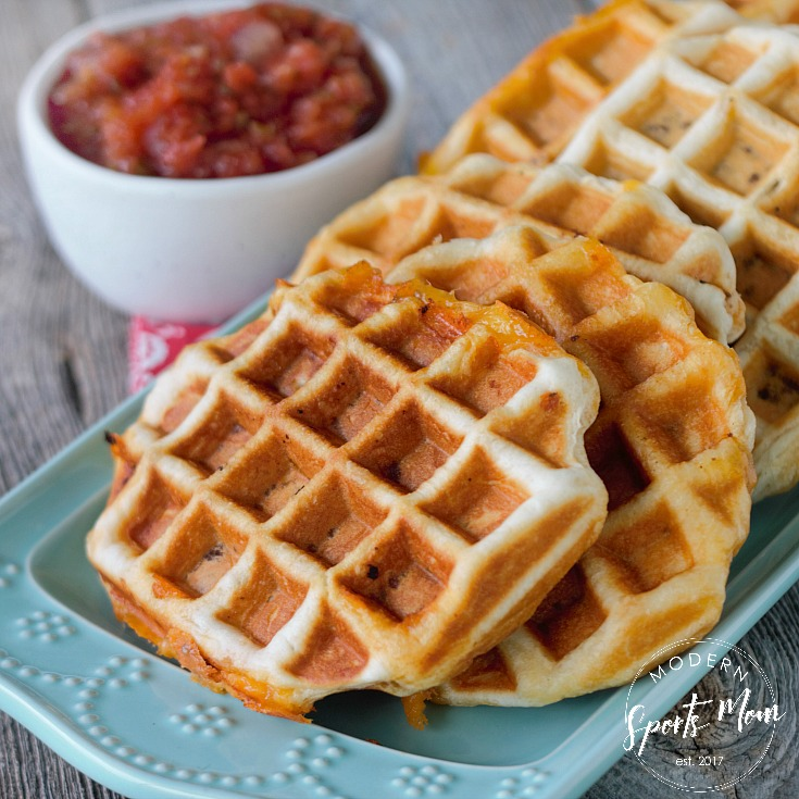 Super simple and perfectly portable, these Taco Waffle Pockets are the perfect easy dinner for busy sports parents!