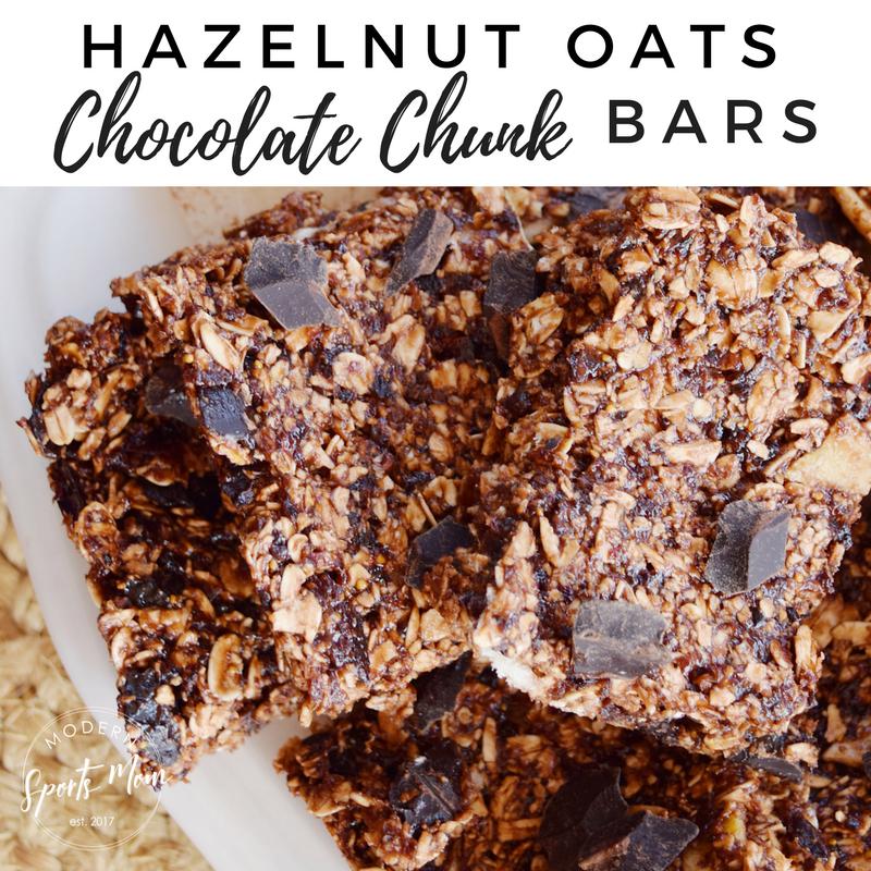 Hazelnut Oats Chocolate Chunk Bars
