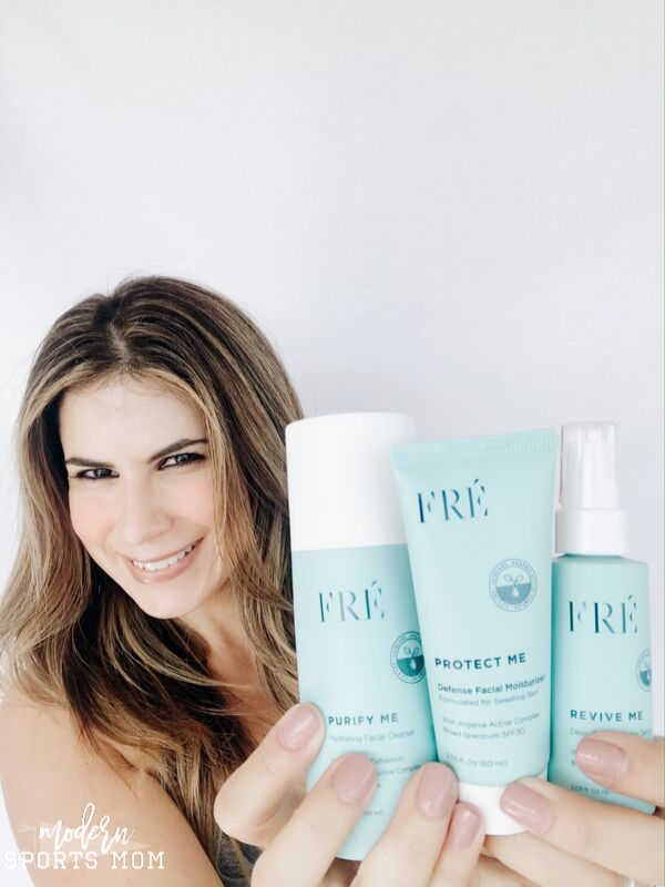 FRE skincare for women who sweat