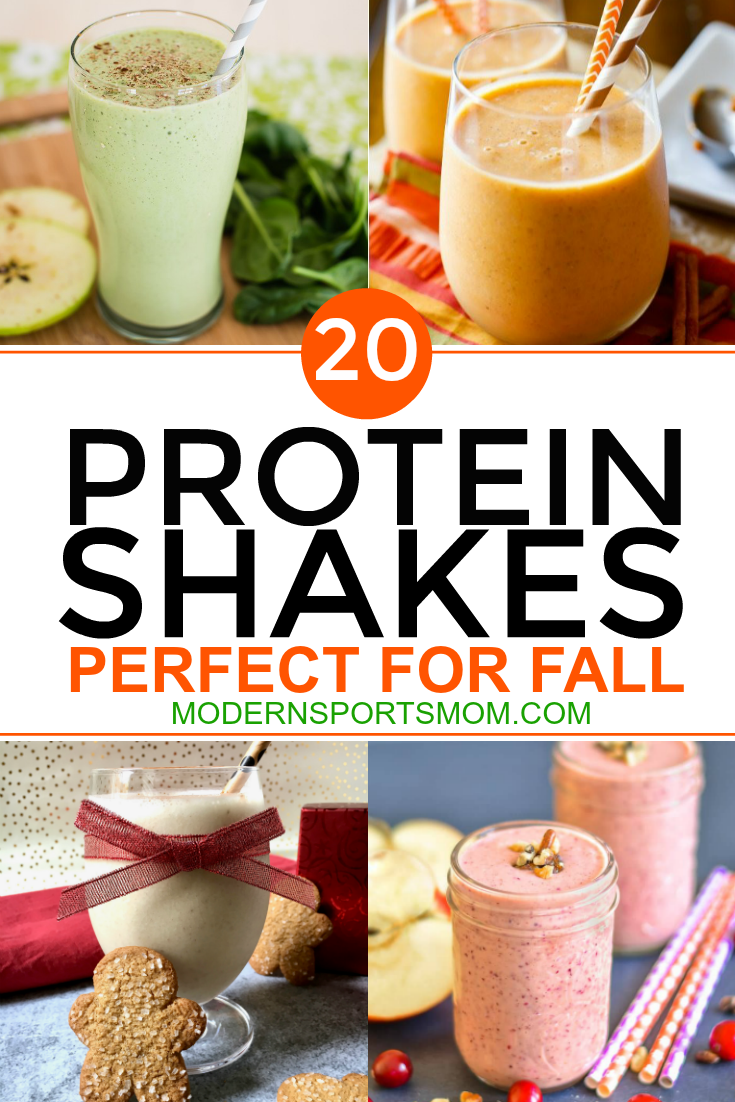 protein shakes in delicious fall varieties