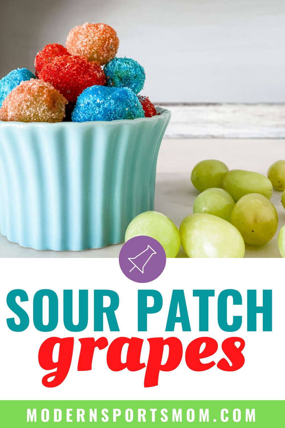 candy grapes or sour patch grapes, healthier option for kids