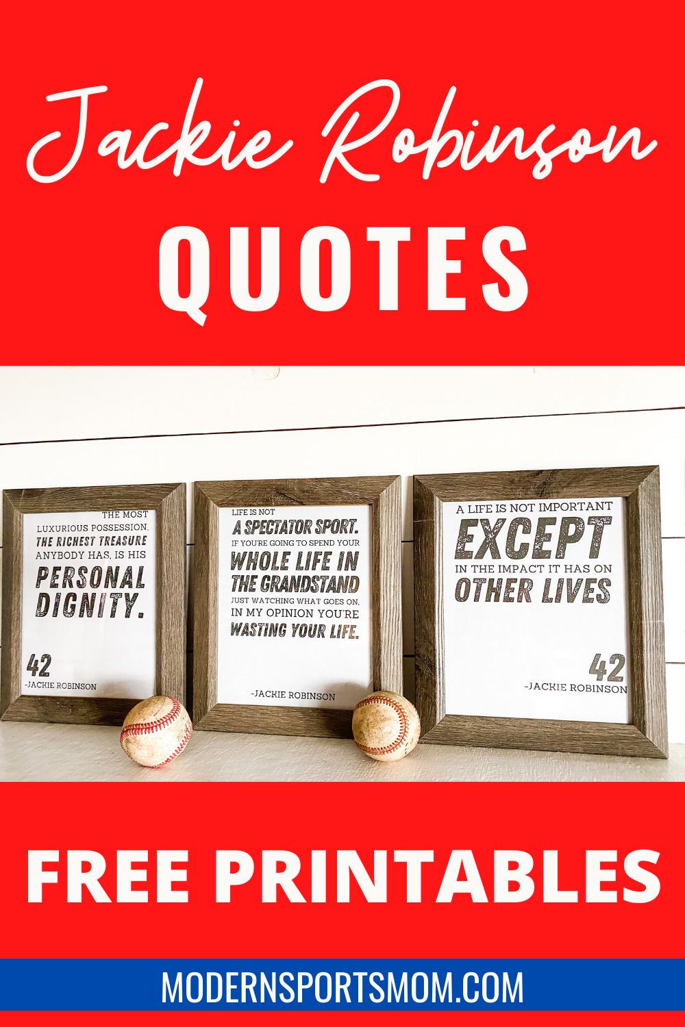 These free printables of popular Jackie Robinson quotes are the perfect way to honor this legend as we celebrate Jackie Robinson Day!