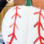 painted baseball pumpkin